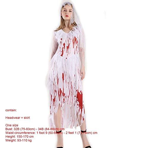 SPFAZJ Halloween Kostüm Erwachsene Rolle Spielen Ghost Braut Cosplay Horror Kostüm blutige Kleid Vampir Party