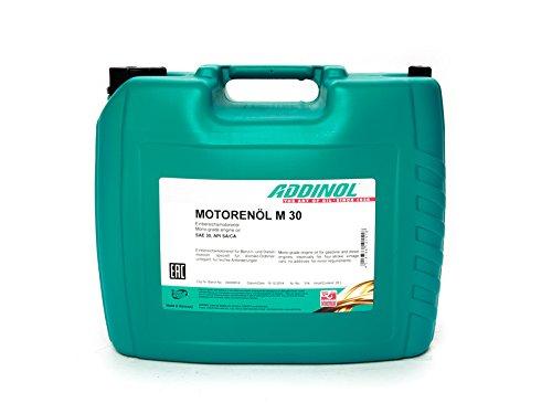 ADDINOL M30 OLDTIMER - MOTORENÖL (SAE Klasse 30 // Viskosität 11,0) mineralisch, 20 L Kanister