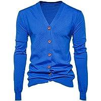 bd13fb2e59db Langmotai Pullover Der Herbst Männer Pullover Casual Button Pullover Mit  V-Ausschnitt Langarm Baumwolle Stricken