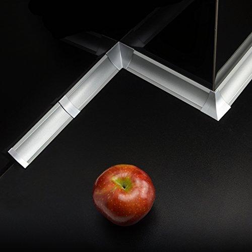[DQ-PP] 3m Winkelleisten Aluminium für Küchen 23mm x 23mm Arbeitsplatten Grundprofil...