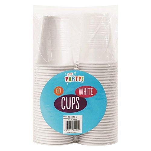60x Weiß Kunststoff Einweg Party cups- 170ml