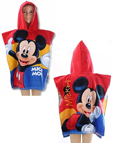 Disney mickey mouse 'fun'-asciugamano poncho in cotone 100%