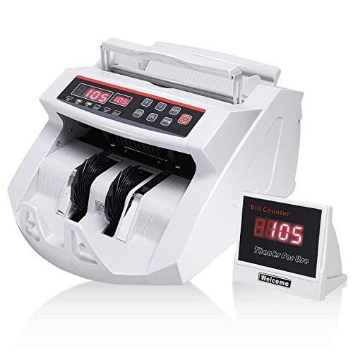 LBSX Contatore dei Soldi con UV, magnetici ed infrarossi Counterfeit Detection, Bill Macchina di conteggio con 3 Diverse velocità, Conti 1000 Note/min e Altro