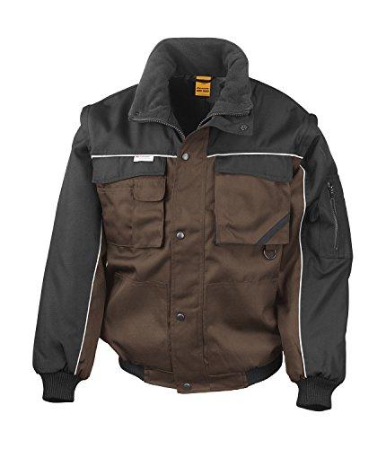 Preisvergleich Produktbild RT71 Workguard Heavy Duty Jacke Arbeitsjacke winddicht wasserabweisend, Farbe:Tan-Black;Größen:M M,Tan-Black
