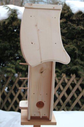 Dekorativer XXXL Nistkasten(N4) mit Vogelfutterhaus-Vogelhaus–Vogelhäuschen-sauberste Verarbeitung-Vogelhaus Garten Deko - 4