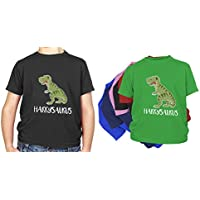 Personalised Kids Name Dinosaur T Rex T Shirt 100% Cotton Perfect Present Gift for Birthday, Christmas