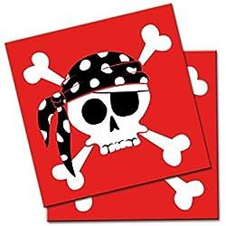 Servilletas de piratas para fiesta, 20 ud.