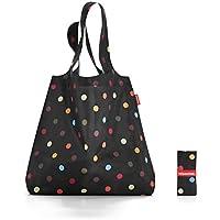 Reisenthel AT7009 Mini Maxi Shopper Mehrfarbig Dots, Polyester, schwarz, 60 x 7 cm