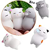 BRIDA Squishy Squishy-Stress Reliever Toys(2 Squishy Cats + Elephant),XX-small - Pack of 3