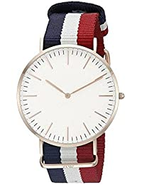 Designer Analogue White Dial Men's Watch - Dw_Blue,Red,White