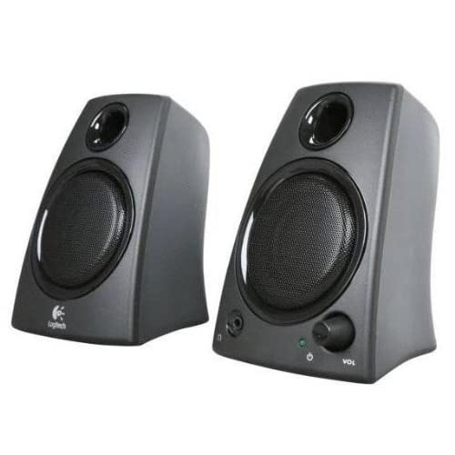 41GZbekJ5WL. SS500  - Logitech Z130 PC Speakers, Full Stereo Sound, Strong Bass, 10 Watts Peak Power, 3.5mm Audio Input, Headphone Jack…