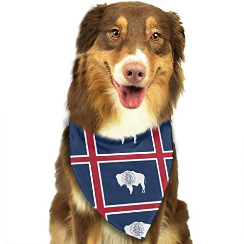 S Kostüm Verkauf 70 - Wyoming Flags of The U.S. States Pet Dog Cat Bandanas Triangle Bibs Pet Scarf Dog Neckerchief Headkerchief Pet Accessories