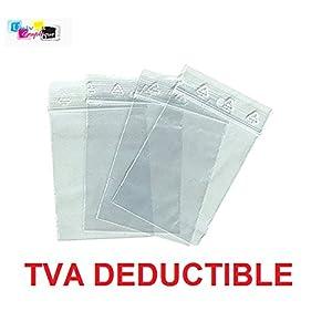 100 - Bolsas de plástico con cierre hermético para objetos pequeños Formato: 50 x 70 mm. Lote de 100 unidades.