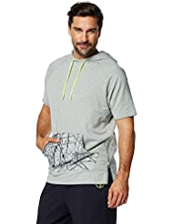 Zumba Fitness Hyper Melt Sweat-shirt à capuche Homme Thunderin Grey Heather FR : S (Taille Fabricant : S)