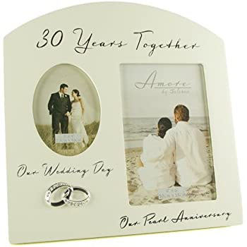 Pearl 30th Wedding Anniversary Photo Frame Amazon Kitchen Home