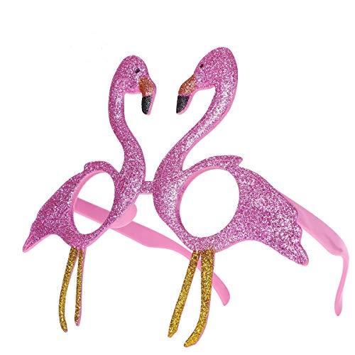 Amosfun Glittery Pink Flamingo Cat Eye Brille Fiesta Flamingo Sonnenbrille für Eine Party Oder Eine Allgemeine Feier
