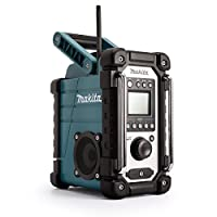 Makita DMR107 7.2 V - 18 V Site Radio with 2 x AA Batteries- Blue (4-Piece)