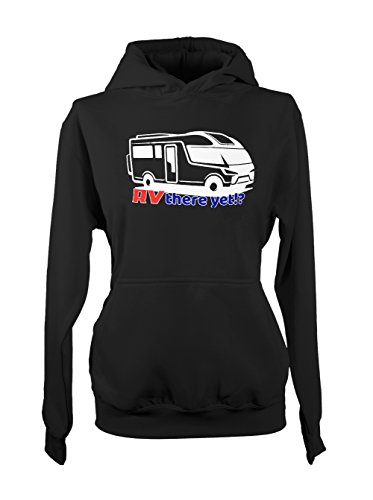 RV There Yet Recreational Vehicle Amusant Traveling Femme Capuche Sweatshirt Noir