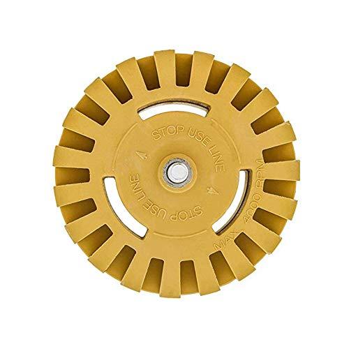 Xploit 1Pc Rubber Grinder Wheel 4 Zoll Pad & Adapter Klebstoffentferner