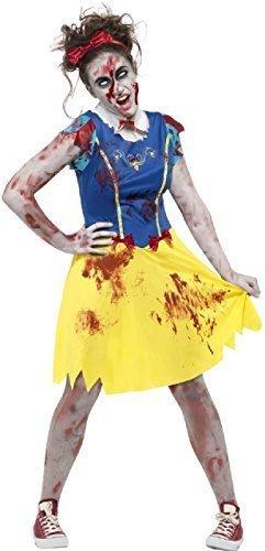 Fancy Me Teen &ältere Mädchen Zombie Miss Schnee Halloween Horror Märchen unheimlich Kostüm Kleid Outfit 12-16 Jahre - 12-14 Years (Miss Zombie Halloween)