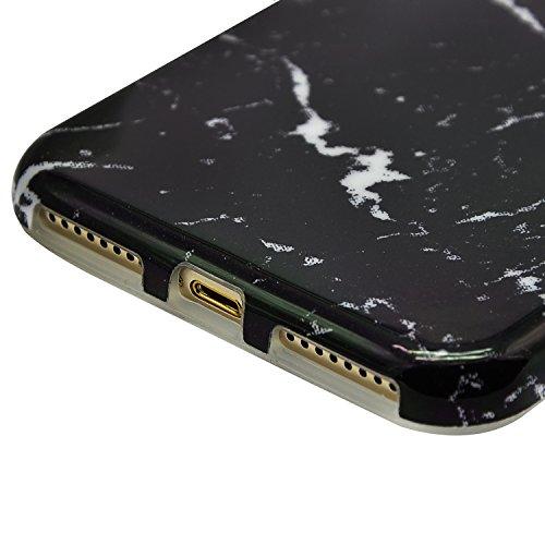 Custodia iphone 7, Cover iphone 7, Sunroyal® Design Marmo Modello Effetto Naturale Back Cover Ultra Sottile Trasparente Silicone Cristallo Morbido TPU Protettiva Cover Case Della Protezione Anti-urto  Marmo 20