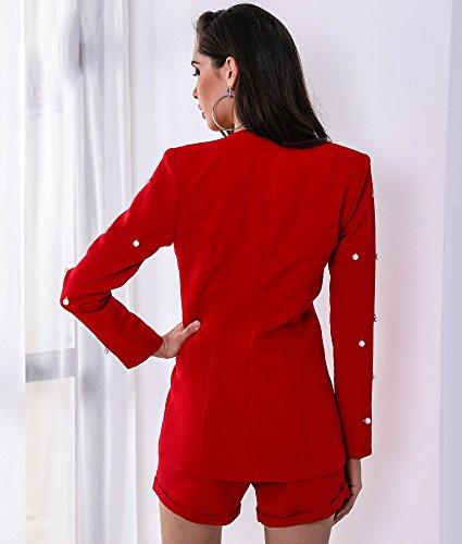 Missord Damen Jumpsuit Rot