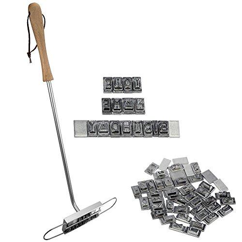 BBQ Grill Grill Brandeisen mit 55 abnehmbaren Buchstaben DIY Fleisch Steak Burger BBQ-Werkzeug-Set