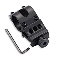 Aesy Tactical 45 Degress 25.4 mm Offset Ring Rifle Flashlight Torch Mount
