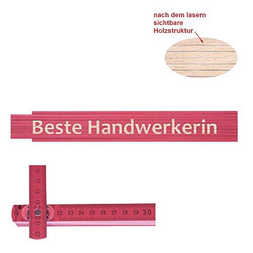 Preisvergleich Produktbild Zollstock pink Beste Handwerkerin
