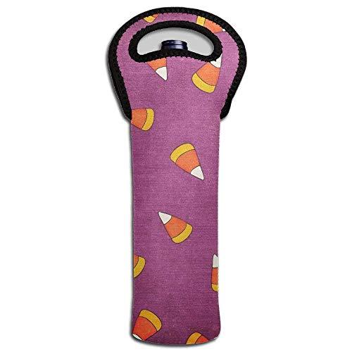 One Bottle Neoprene Wine Tote Candy Pattern Water Bottle Carrier Holder Bag Design7