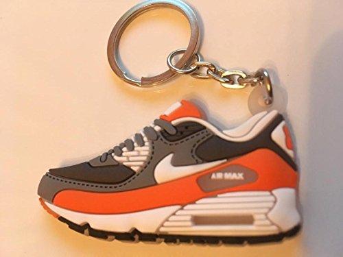 Preisvergleich Produktbild Nike Air Max Schlüsselanhänger Weiß-Orange Sneaker Keychain