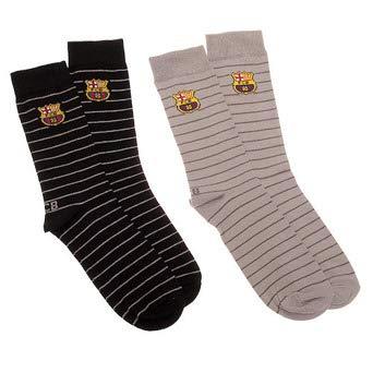 Pack 2 Calcetines FC Barcelona Largos -Rayas-