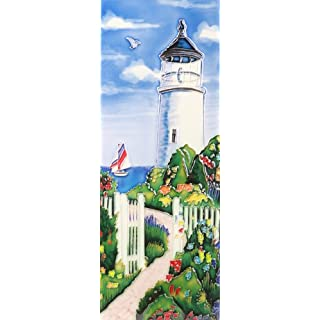 Benaya Lovely Wall Plaque Ceramic Tile Picture Art Hand Crafted | View from the Lighthouse | 6