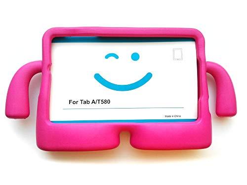 """Vendopolis Funda para Tablet Samsung Galaxy Tab T580 10,1"""" para NIÑOS Goma iBuy iGuy (Rosa)"""