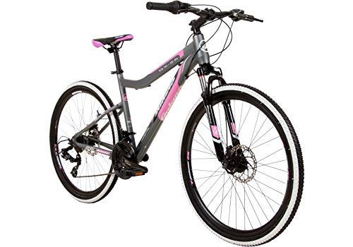 Galano GX-26 26 Zoll Damen/Jungen Mountainbike Hardtail MTB (grau/pink, 38cm)