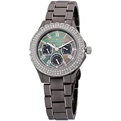 Herzog & Söhne Women's Quartz Watch with Mother of Pearl Dial Analogue Display and Grey Ceramic Bracelet HS202-622B