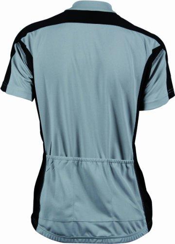 James & Nicholson -T-shirt  Donna Grigio (silver/black)