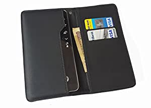 nKarta ™ OD Black Flip Flap Wallet Pouch Mobile Cover Case with Card holder Slots for Samsung Galaxy Grand 3