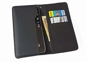 nKarta ™ OD Black Flip Flap Wallet Pouch Mobile Cover Case with Card holder Slots for Gigabyte GSmart G1362