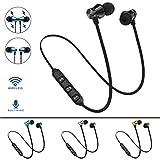 Bescita Bluetooth Sport in-Ear Kopfhörer, V4.2 IPX5 Schweißresistent Stereo magnetischer Sport Ohrhörer mit 10 Meter Reichweite, eingebautes Mikrofon für iPhone, Huawei und Samsung (Schwarz)