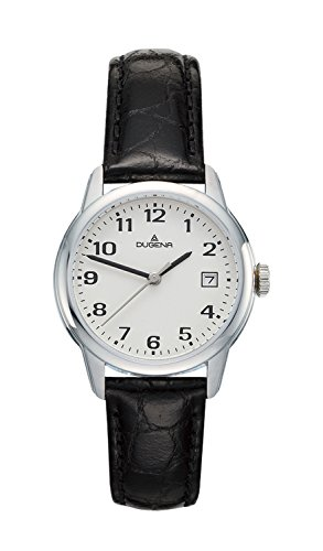 Dugena Women's Quartz Watch with Black Dial Display Sporty and elegant Analogue Quartz Leather 4308719