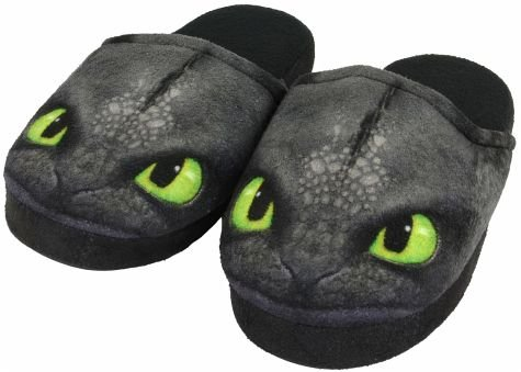 dreamworks-dragons-enfants-chaussons-krokmou-toothless-31-36-noir-31-32