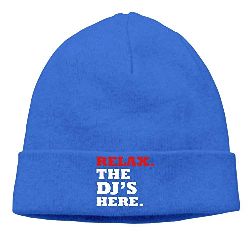 Men Relax The DJ's Here Casual Style Travel Royalblue Beanies Caps Hats