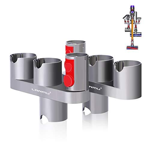 Zubehörhalter Organizer Dockingstation für Dyson V8, V7 Staubsauger Zubehörteile in Ordnung zu Halten (2 Stück, Grau)