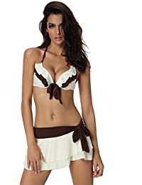 Szivyshi Damen Push-up-Bikini, 3-teilig