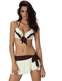 SZIVYSHI maillot de bain femme 3 pièces bikini push up