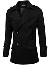 Hommes Convertible Col Double Boutonnage Fashion Caban