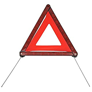 AUTONIK 123120 Warning Triangle ECE Warning Triangle Car Breakdown Triangle Red