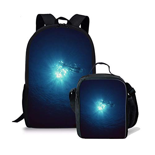 h Bag Set 17-Zoll-Rucksack Insulated Lunch Box (Color : Ad 4, Size : -) ()
