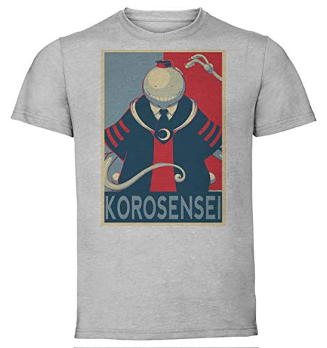 Instabuy T-Shirt Unisex - Grey Shirt - Propaganda - Assassination Classroom - Korosensei Größe Medium